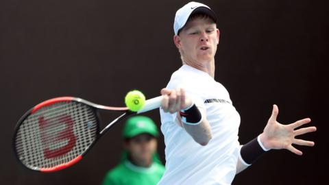 Kyle Edmund of Great Britain