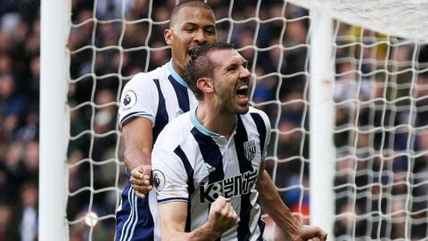 Gareth McAuley is Albion's joint top scorer in all competitions with Saloman Rondon, both having now netted seven times