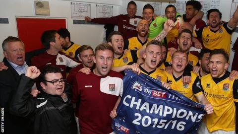Northampton Town celebrations