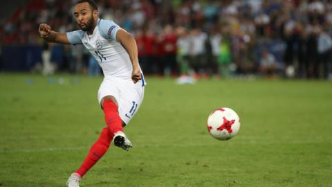 England's Nathan Redmond misses his penalty