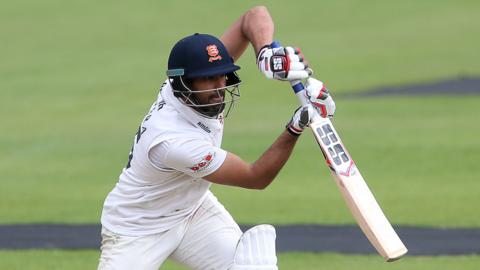 Ravi Bopara plays a stylish drive for Essex against Glamorgan on his way to 80
