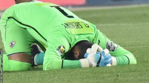 Zamalek's goalkeeper Ahmed El Shenawy