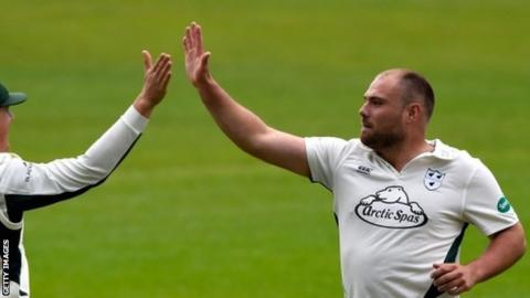 Worcestershire vice-captain Joe Leach celebrated his second five-for of the season