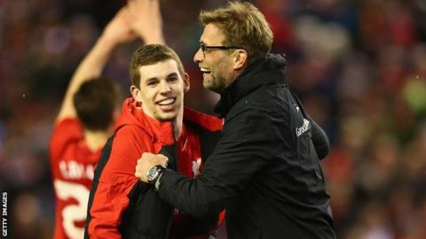 Jon Flanagan and Jurgen Klopp