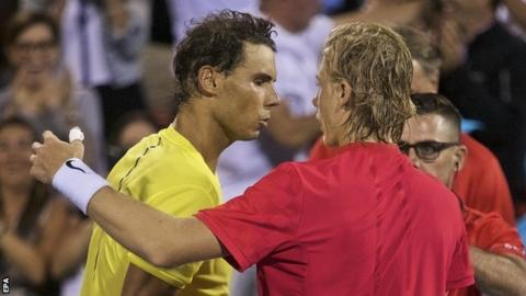 Rafael Nadal and Denis Shapovalov