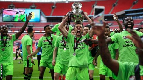 Forest Green Rovers celebrate