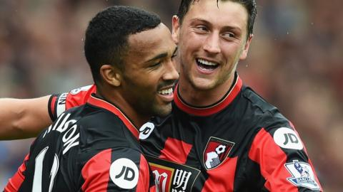 Callum Wilson and Tommy Elphick