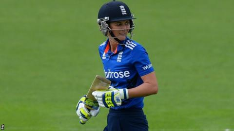 Charlotte Edwards walks off after being dismissed