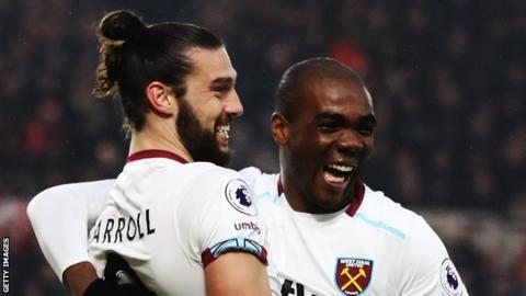 Andy Carroll and Angelo Ogbonna