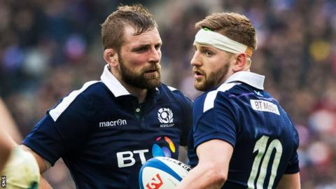 John Barclay and Finn Russell