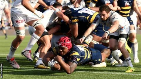 Worcester hooker Joe Taufete'e had previously only scored two tries for the Warriors