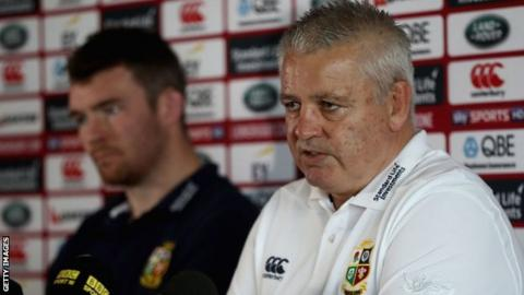 Warren Gatland and Peter O'Mahony