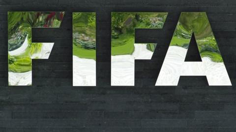Fifa logo outside headquarters