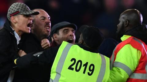 Fan violence at West Ham