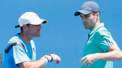 Colin Fleming (right) and partner Jonathan Erlich are through to the second round in Paris