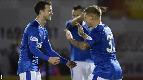 Andy Halliday (left) and Martyn Waghorn