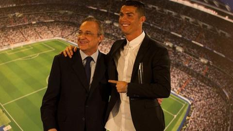 Florentino Perez and Cristiano Ronaldo at Real Madrid