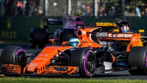 Fernando Alonso's McLaren-Honda during the Australia GP