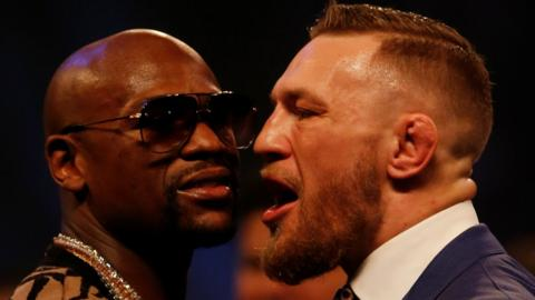Floyd Mayweather (left) and Conor McGregor