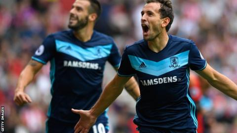 Middlesbrough duo Alvaro Negredo and Cristhian Stuani