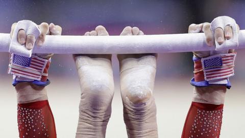 a US gymnast