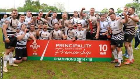 Pontypridd were Welsh Premiership champions in 2014-15