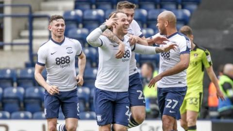 Stevie May scored Preston's late first-half equaliser at Deepdale was his first goal for the club