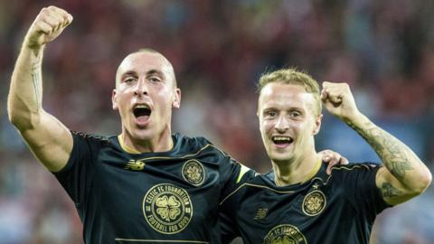 Scott Brown and Leigh Griffiths