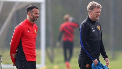 Ryan Giggs and David Moyes