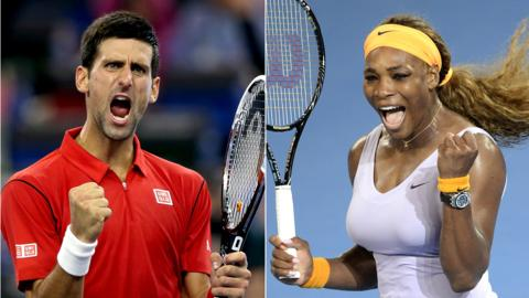 Novak Djokovic & Serena Williams