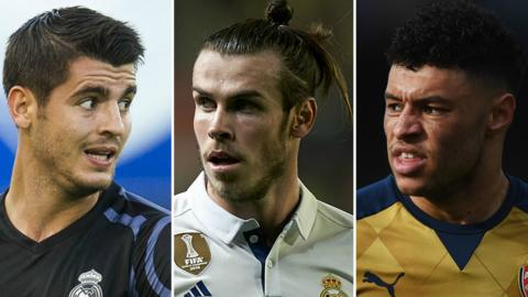 Morata, Bale, Oxlade-Chamberlain