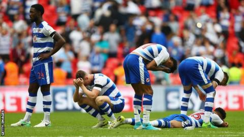 Reading players dejected after Championship play-off final defeat