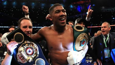 Anthony Joshua belts