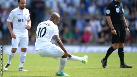 Andre Ayew scores against Bristol Rovers