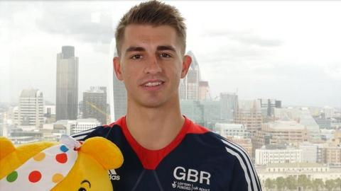 Max Whitlock and Pudsey jump for Children in Need