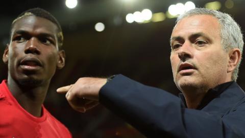 Mourinho with Pogba