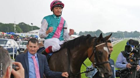 Frankie Dettori has completed a classifc double on Enable