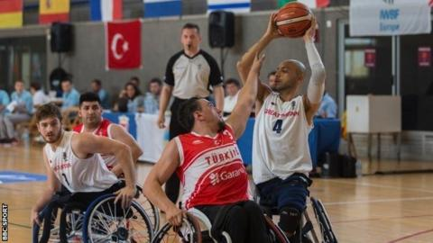 Great Britain's wheelchair basketball team
