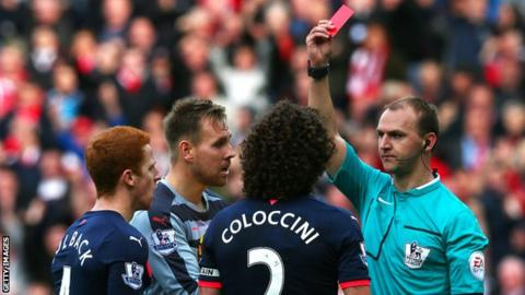 Newcastle captain Fabricio Coloccini was sent off and his side went on to lose 3-0 in the reverse fixture in October.