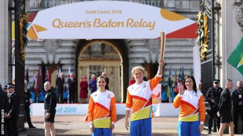 Queen's baton relay launch