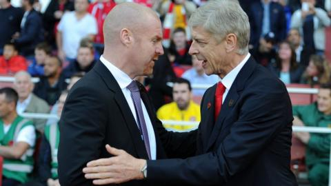 Sean Dyche and Arsene Wenger