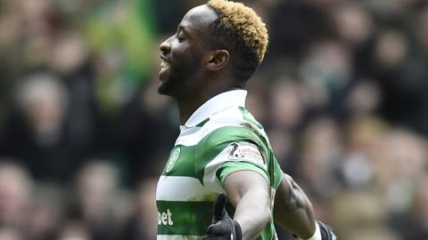 Celtic's Moussa Dembele celebrates