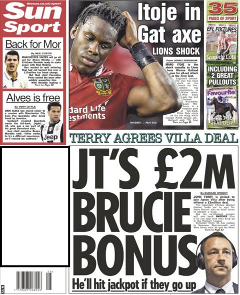 John Terry will get a £2m bonus at Aston Villa if he helps them to promotion, according to The Sun