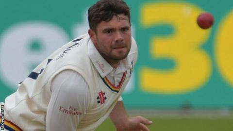 Durham off-spinner Ryan Pringle