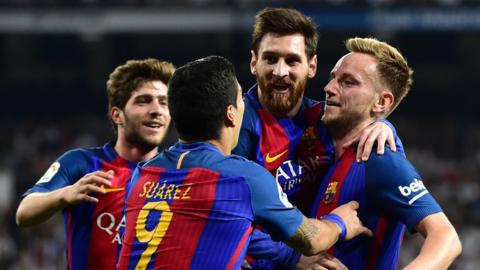 Rakitic scores for Barcelona