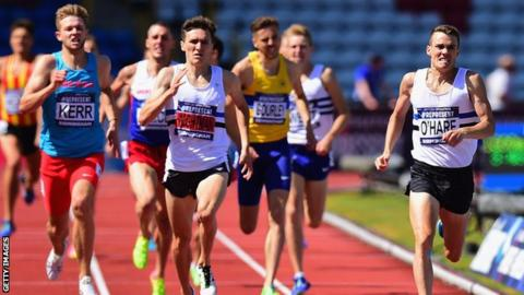 Chris O'Hare led home a Scottish 1-2-3 in the 1500m