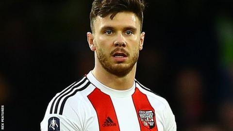 Scott Hogan: Brentford striker having Aston Villa medical