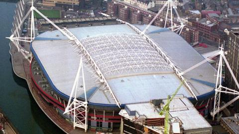 The Principality Stadium with its roof closed