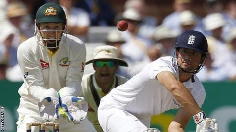 Alastair Cook scored 96 in the first innings of the second Ashes Test