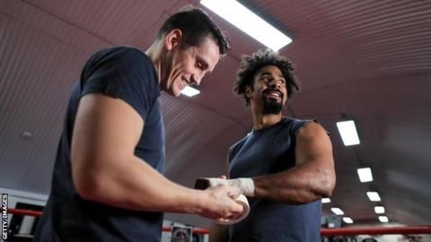 Shane McGuigan (left) and David Haye